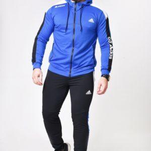 Заказать синий мужской двухцветный костюм с кофтой на змейке (размер 46-52) недорого