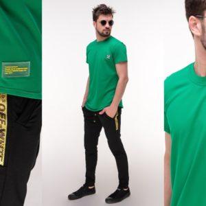 Приобрести зеленый мужской спортивный костюм с футболкой off white (размер 46-52) по низким ценам