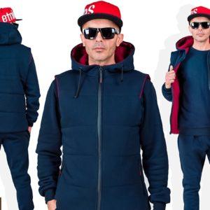 Приобрести синий мужской однотонный спортивный костюм тройка (размер 48-54) в Одессе, Львове, Днепре