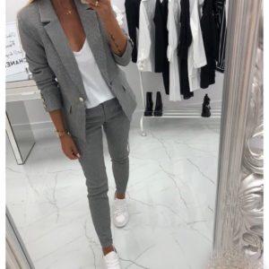 Замовити жіночий брючний костюм в чорно-білу клітинку (розмір 42-48) онлайн в інтернеті