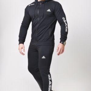 Купить черный мужской двухцветный костюм с кофтой на змейке (размер 46-52) недорого