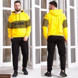 Заказать желтый мужской спортивный костюм со вставками из сетки (размер 48-56) в Одессе, Львове