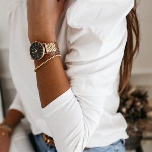 Купить онлайн белую женскую нежную кофту с длинными рукавами-фонариками недорого