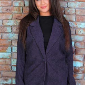 Приобрести синий женский вельветовый пиджак свободного кроя (размер 42-52) в Украине