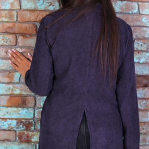 Заказать синий женский вельветовый пиджак свободного кроя (размер 42-52) в Киеве, Львове