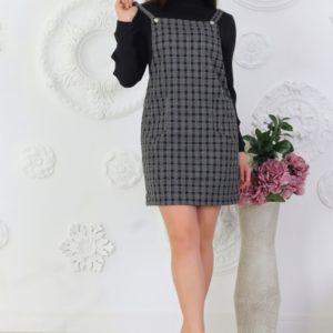 Приобрести черный женский шерстяной сарафан на трикотажной основе (размер 42-56) в Киеве, Львове