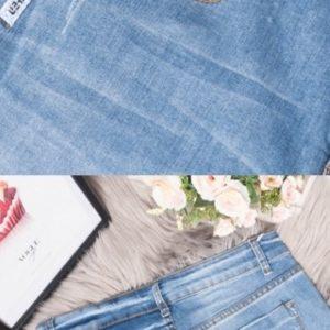 Купить голубые женские голубые джинсовые шорты с маленькими царапками (размер 31-36) дешево