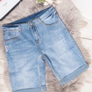 Заказать женские голубые джинсовые шорты с маленькими царапками (размер 31-36) по низким ценам