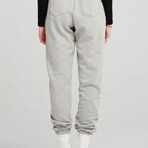 Купить серые женские штаны на высокой посадке с карманами по низким ценам