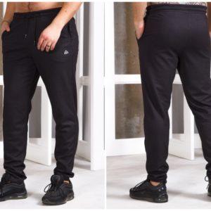 Приобрести черные мужские спортивные штаны без манжета с карманами (размер 48-56) в Украине
