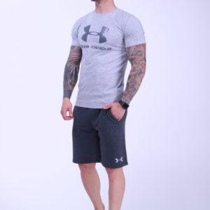 Приобрести серый мужской костюм футболка+шорты Under Armour (размер 46-52) в Украине