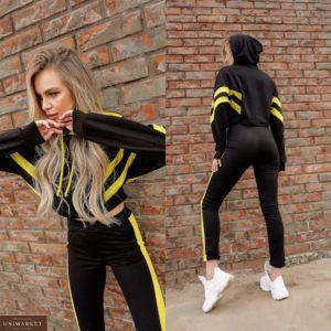 Купить черный женский спортивный костюм с рукавом «летучая мышь» по низким ценам
