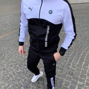 Заказать черный мужской спортивный костюм Рuma bmw с кофтой на змейке (размер 46-54) в Украине
