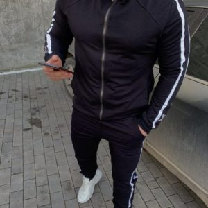 Заказать мужской черный спортивный костюм с эмблемой Louis Vuitton (размер 46-54) по низким ценам