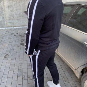 Купить мужской черный спортивный костюм с эмблемой Louis Vuitton (размер 46-54) хорошего качества