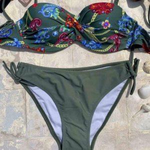 Купить хаки женский купальник Анжелика с регулирующимися плавками в Украине