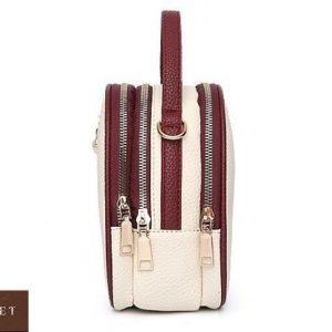 Заказать бежевую женскую мини сумку копия бренда Gucci по скидке