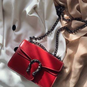 Приобрести женскую красную сумка копия Gucci недорого