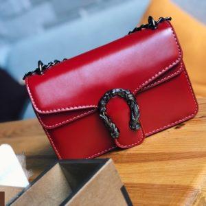 Заказать женскую красную сумка копия Gucci в Украине