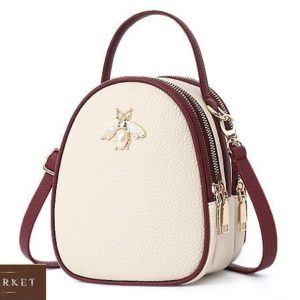 Купить бежевую женскую мини сумку копия бренда Gucci в Украине