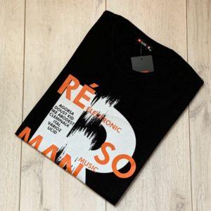 Приобрести черную мужскую люминесцентную футболку с принтом (размер 46-54) выгодно