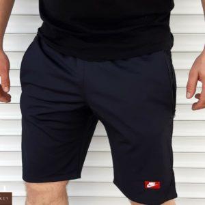 Купить синие мужские шорты с эмблемой Nike из лакосты (размер 46-52) дешево