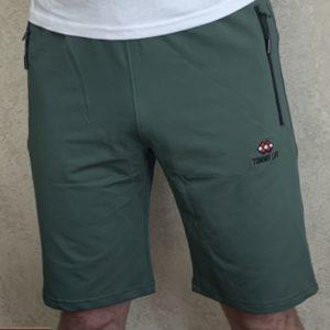 Купить хаки мужские шорты из трикотажа с эмблемой (размер 46-54) в Украине