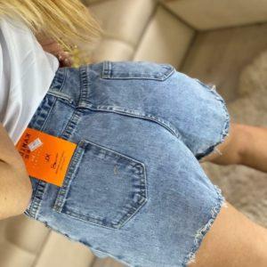 Придбати жіночі сині джинсові шорти з Міккі Маусом на поясі (розмір 44-48) за низькими цінами