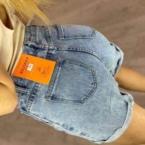 Замовити жіночі блакитні класичні джинсові шорти (розмір 44-48) по знижці