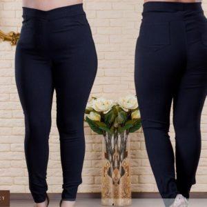 Купить черные женские стрейчевые джеггинсы на резинке с карманами (размер 48-62) онлайн