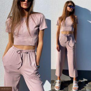 Купить пудра женский костюм: штаны с топом по низким ценам