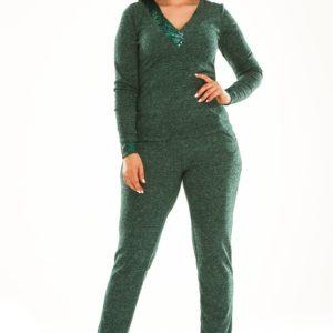 Купить бутылка женский прогулочный костюм из ангоры с пайетками (размер 50-64) по низким ценам