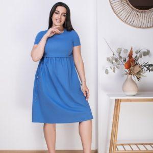 Купить джинс женское стрейчевое свободное платье из льна (размер 50-64) онлайн