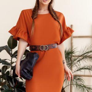Заказать оранж женское свободное платье миди с акцентом на рукавах (размер 42-58) недорого
