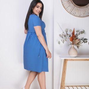 Приобрести джинс женское стрейчевое свободное платье из льна (размер 50-64) недорого