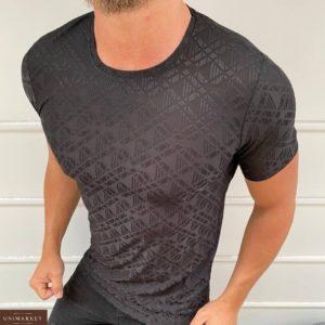Заказать мокко мужскую структурную футболку с глянцевым принтом (размер 48-54) выгодно