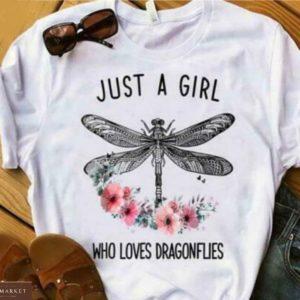 Заказатьбелую женскую футболку с принтом насекомые (бабочка, стрекоза) онлайн