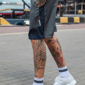 Приобрести серые мужские двухцветные шорты из плащевки на резинке (размер 46-54) онлайн