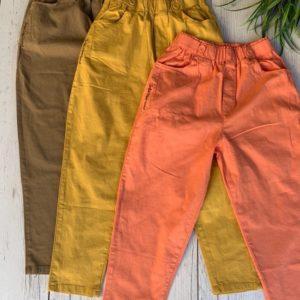 Заказать мокко, горчица, персик женские легкие хлопковые штаны на резинке онлайн