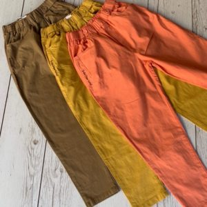 Купить мокко, горчица, персик женские легкие хлопковые штаны на резинке недорого
