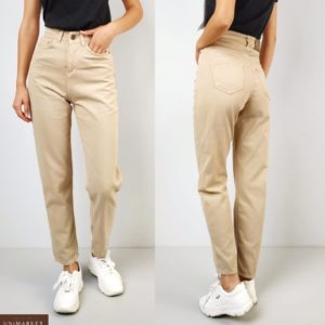 Заказать беж женские джинсы Mom прямого кроя онлайн