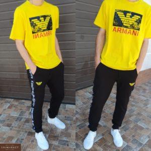 Купить мужской желтый спортивный костюм Armani (размер 46-54) в Украине