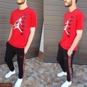Заказать мужской красный спортивный костюм Jordan с лампасами (размер 46-54) выгодно