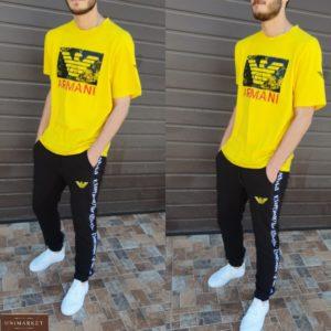 Заказать мужской желтый спортивный костюм Armani (размер 46-54) по скидке