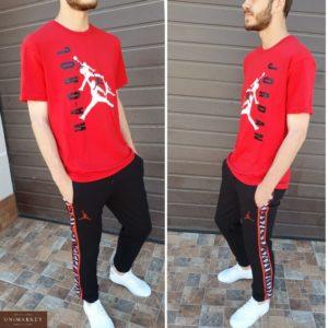 Приобрести мужской красный спортивный костюм Jordan с лампасами (размер 46-54) по низким ценам