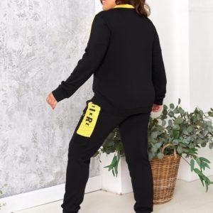 Приобрести женский спортивный костюм Nike Air на змейке (размер 48-54) желтого цвета по скидке