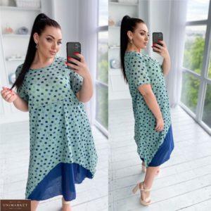 Приобрести мята женское легкое платье в горошек из батиста (размер 50-56) онлайн