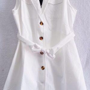 Заказать белое женское летнее платье-рубашку из стрейч коттона выгодно