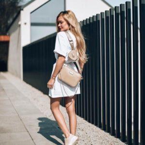 Купить белую футболку-тунику с поясом (размер 42-50) для женщин онлайн