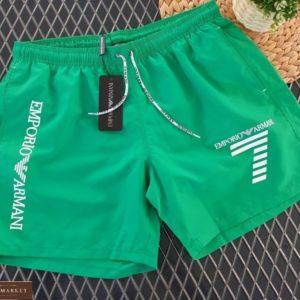 Заказать зеленые мужские летние шорты Armani с подкладкой из сетки (размер 46-54) выгодно